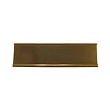 This aluminum nameplate desk holder is the perfect base for an existing nameplate.  It looks great on any office desk or counter top.