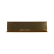 The aluminum pedestal desk holder is the perfect size and look to hold an existing name plate, either on a desk or counter top: It comes in two colors: gold and silver  