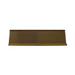 The aluminum double-sided name plate holder is a great base to add to your existing name plate: It comes in two colors- gold and silver and looks great sitting on a counter top or on an executives desk  