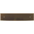 The aluminum wall holder comes in three colors--gold, silver and black.  It's perfect to display your name plate on the wall or door.