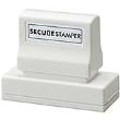 """Secure Stamper Large, Black ink, 15/16"""" x 2-13/16"""" obscures private information, for more, visit Xstampers.com"""